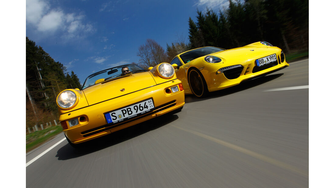 Techart-Porsche 964 Speedster, Techart-Porsche 991 Carrera S, Frontansicht