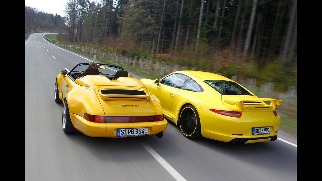 Techart-Porsche 964 Speedster, Techart-Porsche 991 Carrera S, Heckansicht