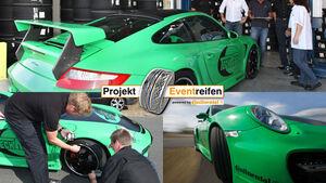 Techart-Porsche Reifen Reifenmessung