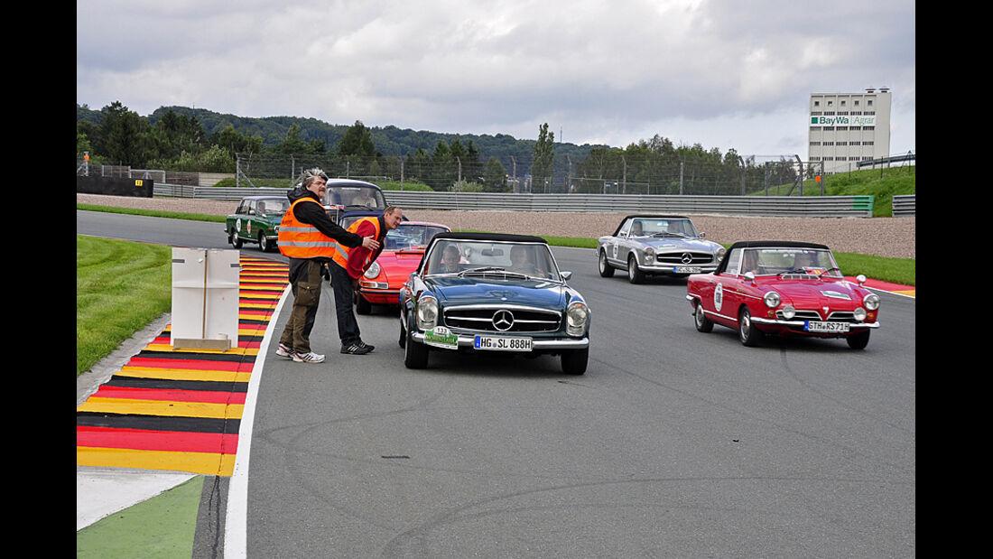 Teilnehmer auf dem Sachsenring bei der Sachsen Classic 2010
