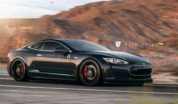 Tesla Coupé - Fantasie-Auto