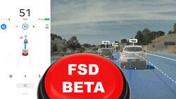 Tesla FSD Beta Button