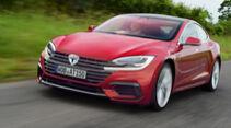 Tesla Front Retusche Kühlergrill