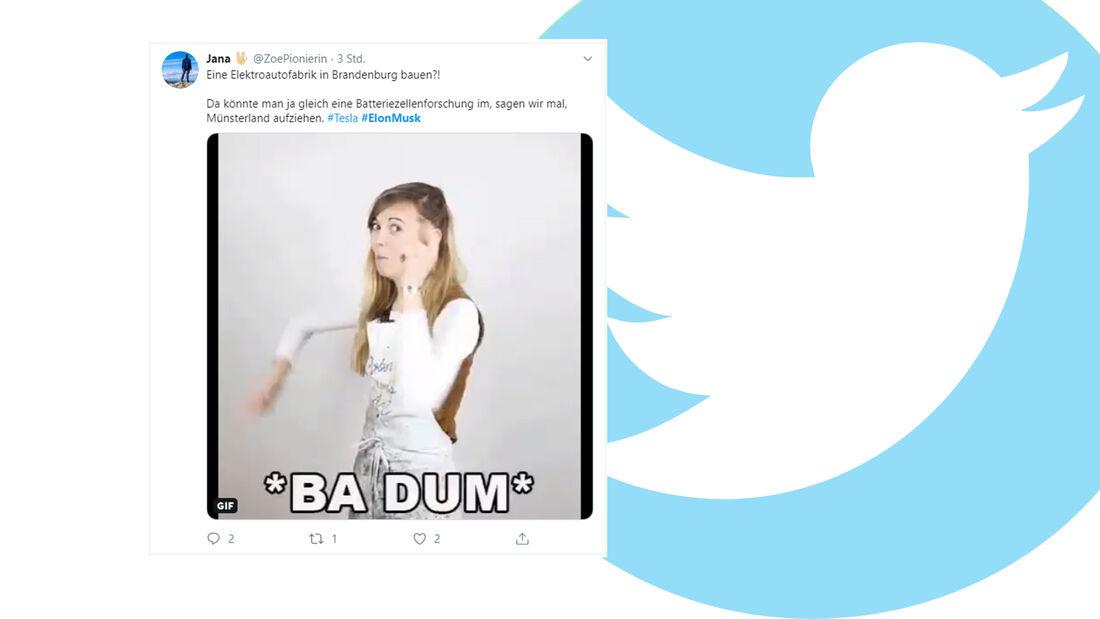 Tesla Gigafactory Twitter Reaktionen