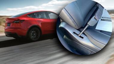 Tesla Mängel Konstruktion Qualität Collage