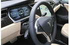 Tesla Model S, Cockpit, Lenkrad