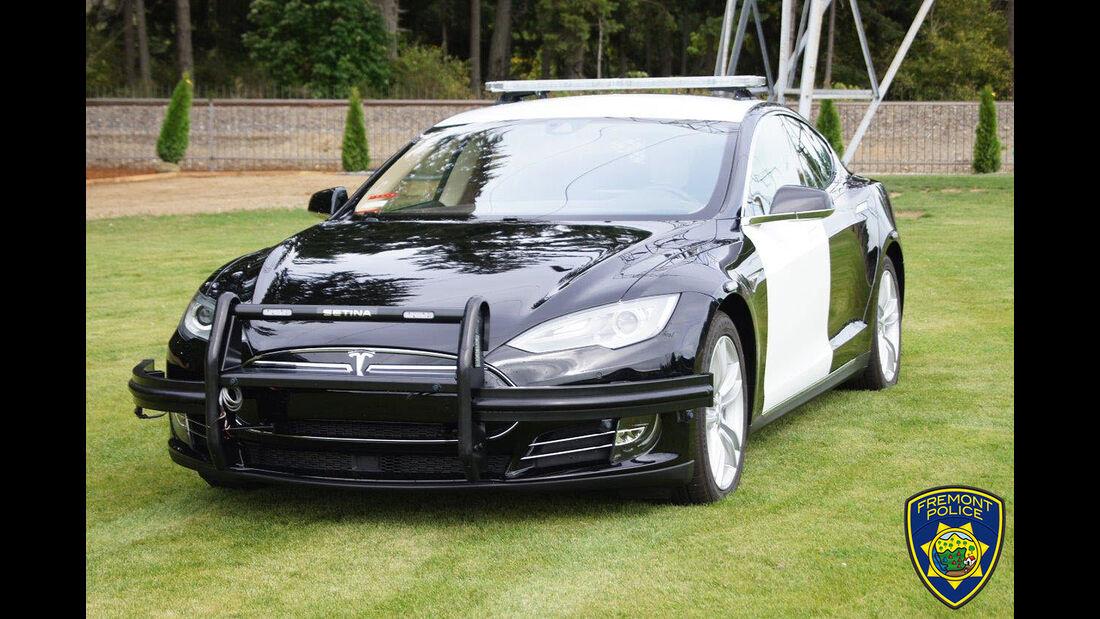Tesla Model S Fremont Police