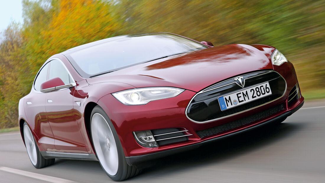 Tesla Model S, Frontansicht