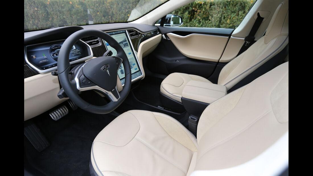 Tesla Model S, Frontsitze
