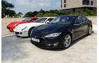 Tesla Model S - GP Abu Dhabi - Carspotting 2015