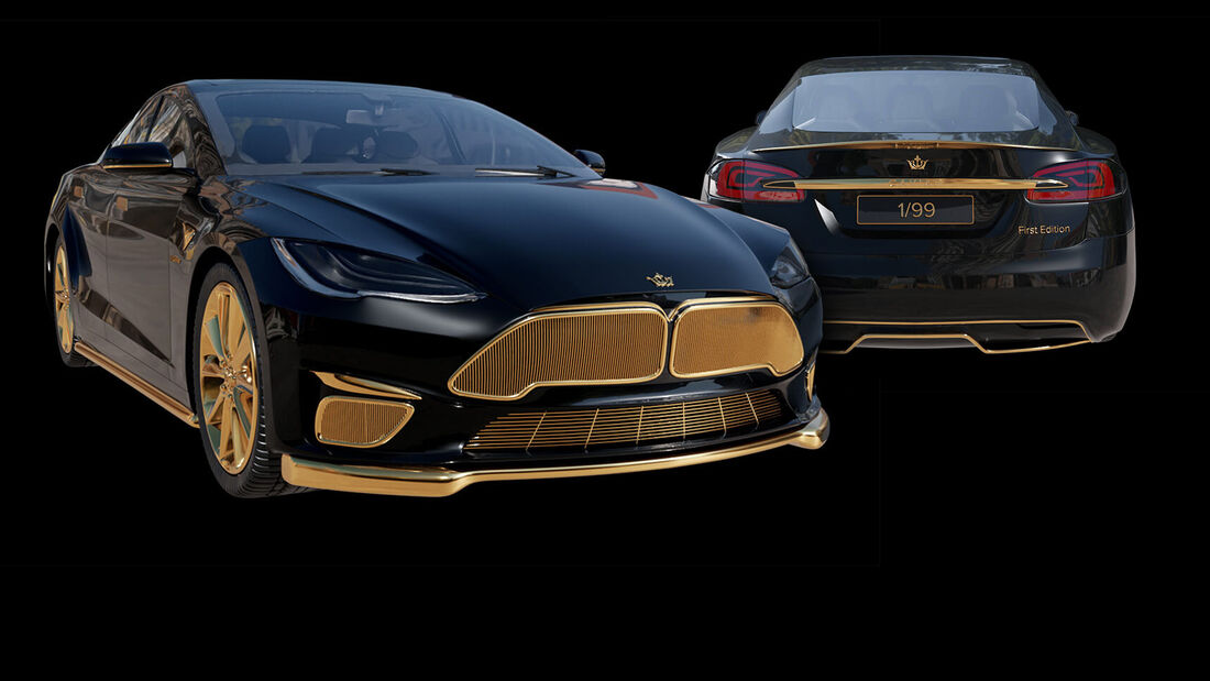 Tesla Model S Gold Caviar Excellence 24K