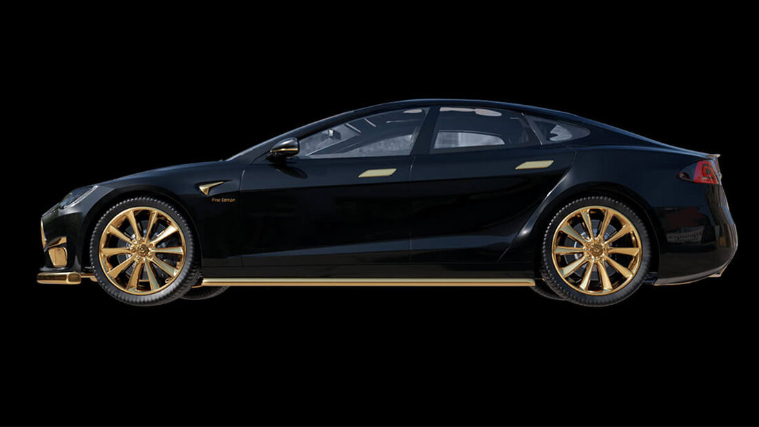 Tesla Model S Gold Caviar Excellence 24K