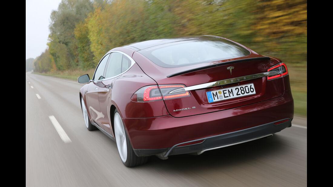 Tesla Model S, Heckansicht