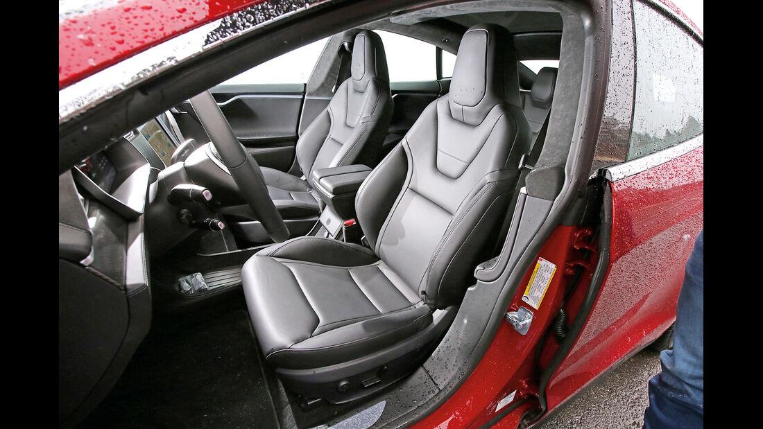 Tesla Model S P85D, Fahrersitz