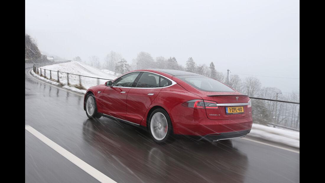 Tesla Model S P85D, Heckansicht
