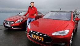 Tesla Model S P85D, Mercedes CLS 63 AMG S 4Matic, Alexander Bloch