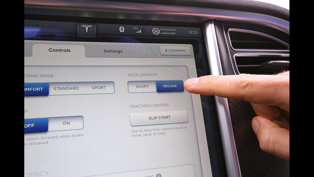 Tesla Model S P85D, Touchscreen, Bildschirm