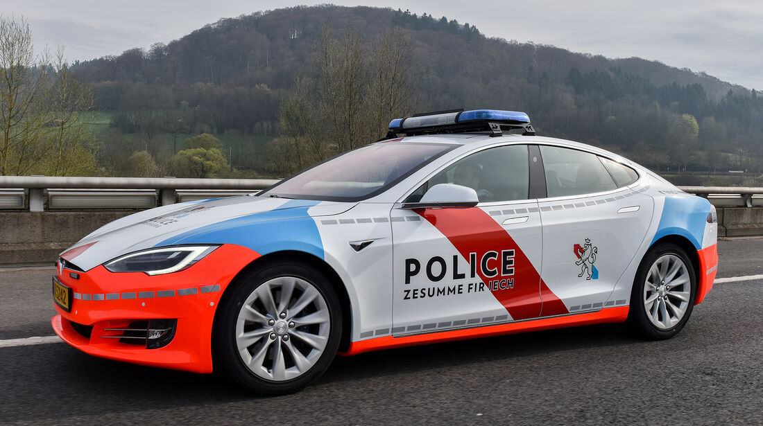 Tesla Model S Police Grand-Ducale