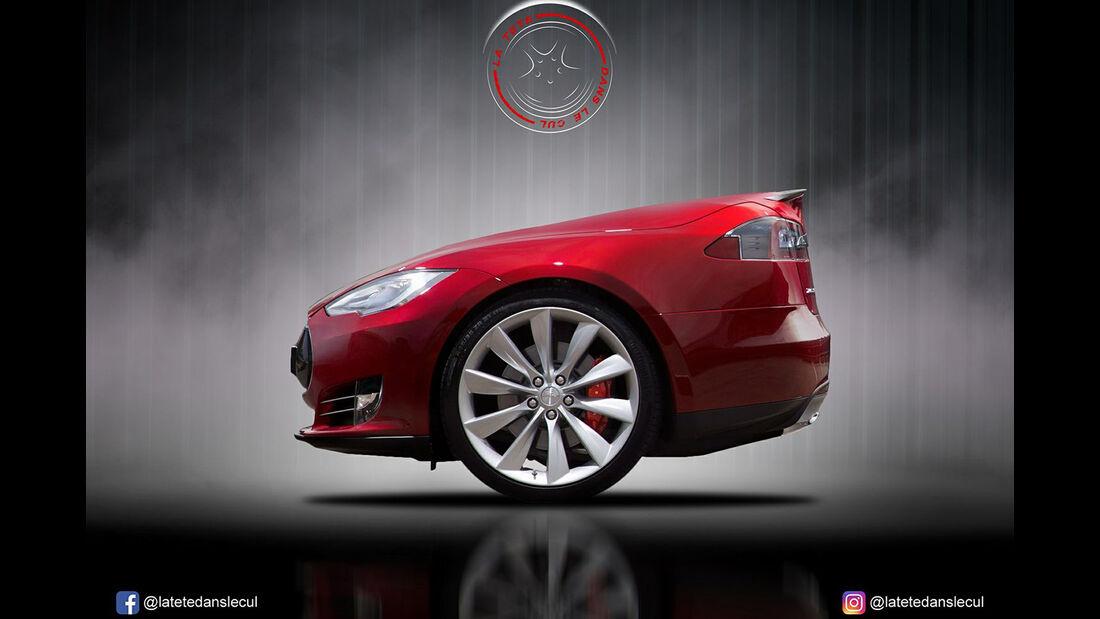 Tesla Model S Retusche