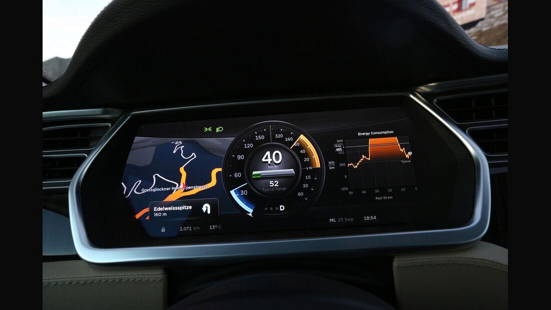 Tesla Model S, Rundinstrumente