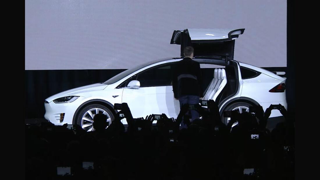 Tesla Model X Adlertüren