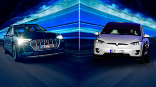 Tesla Model X Audi E-tron Vergleich 2019