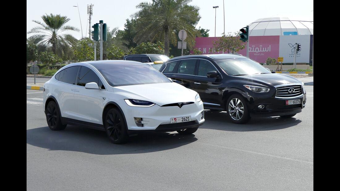 Tesla Model X - Carspotting - GP Abu Dhabi 2018