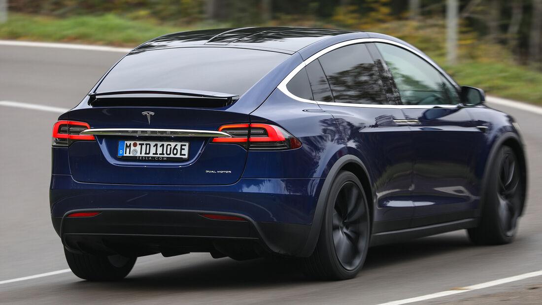 Tesla Model X Maximale Reichweite, Exterieur