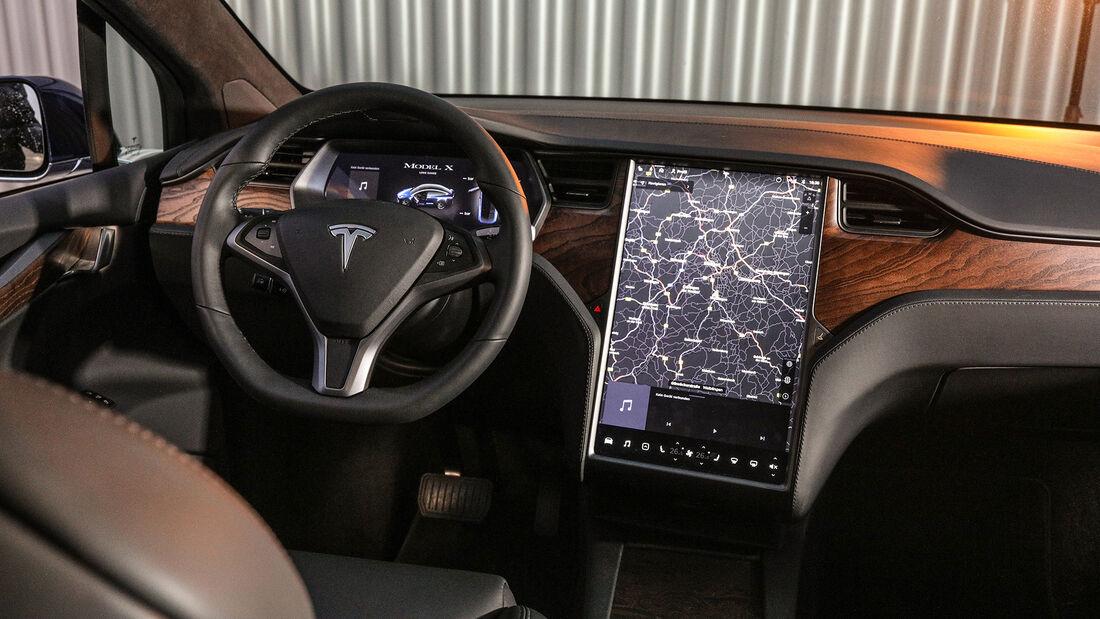 Tesla Model X Maximale Reichweite, Interieur