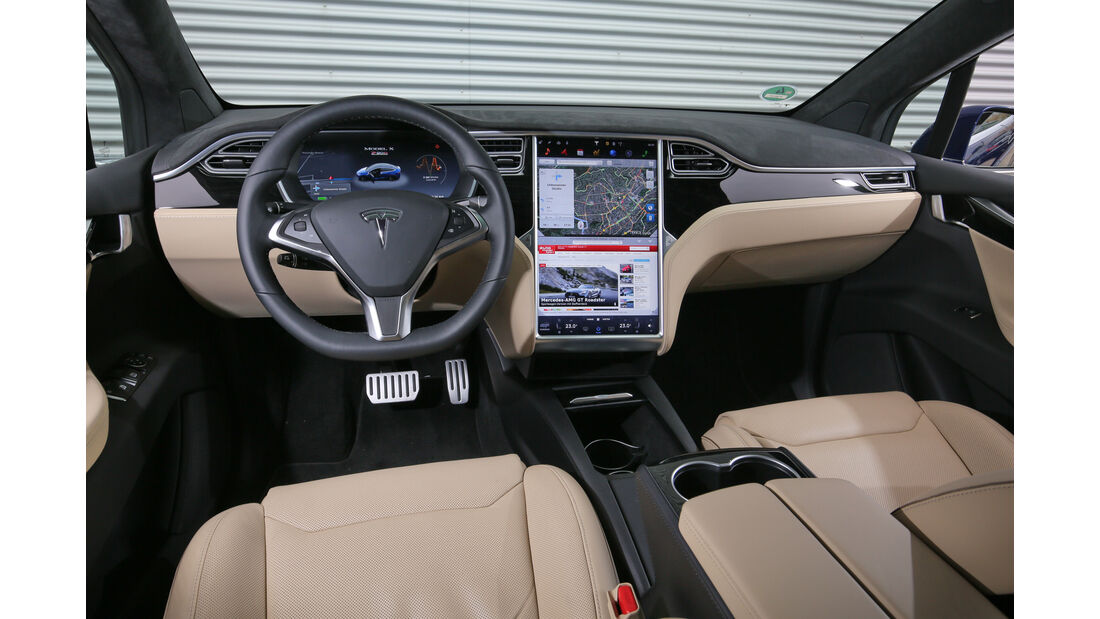Tesla Model X P90D, Fondsitze