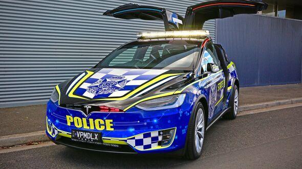 Tesla Model X Police