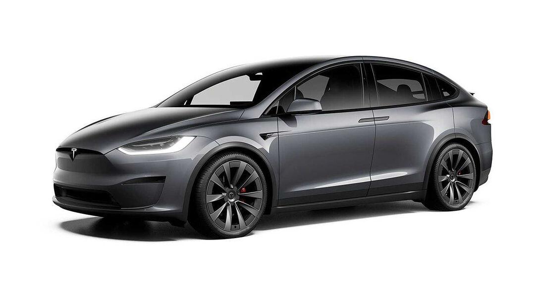 Tesla Model X mit schwarzen Applikationen