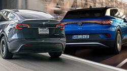 Tesla Model Y VW ID.4 Vergleich