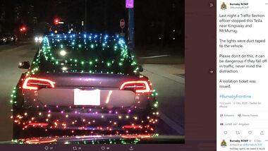 Tesla Polizeikontrolle Kanada