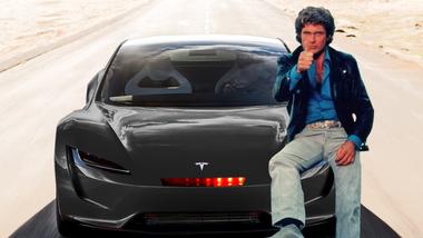 Tesla Roadster David Hasselhoff