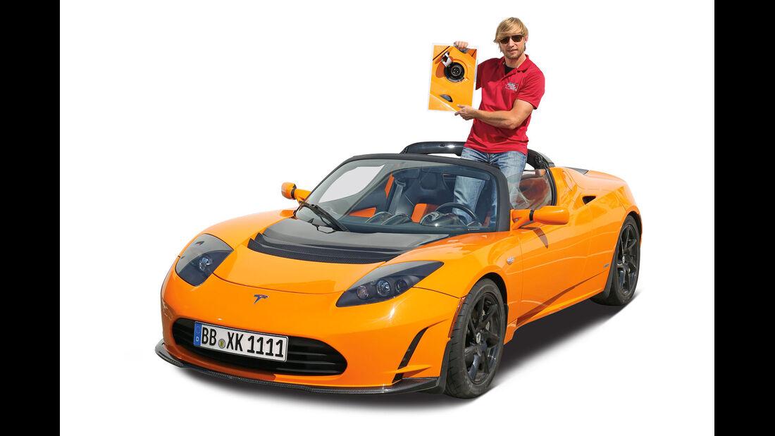 Tesla Roadster, Frontansicht