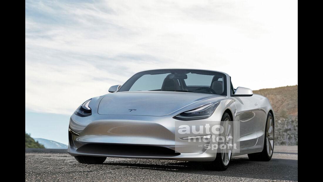 Tesla Roadster - Retusche - Zweisitzer - Sportwagen