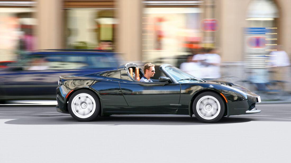 Tesla Roadster, Seitenansicht