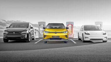 Tesla öffnet Supercharger für andere Hersteller