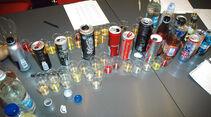 Testaufbau, Energiedrinks