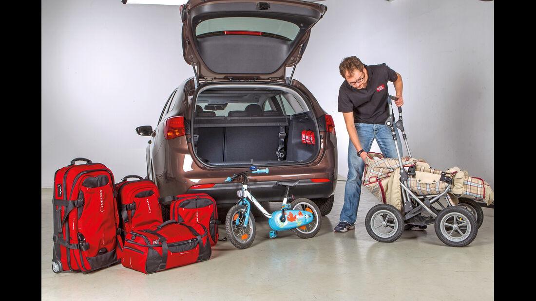 Testwagen, Kofferraum