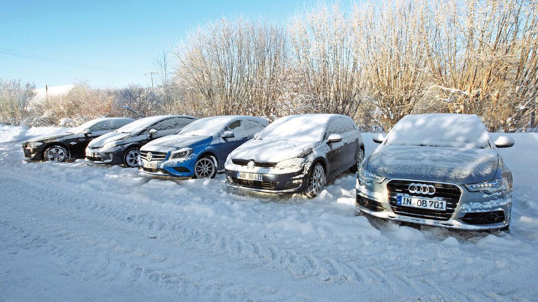 Testwagen, Schnee