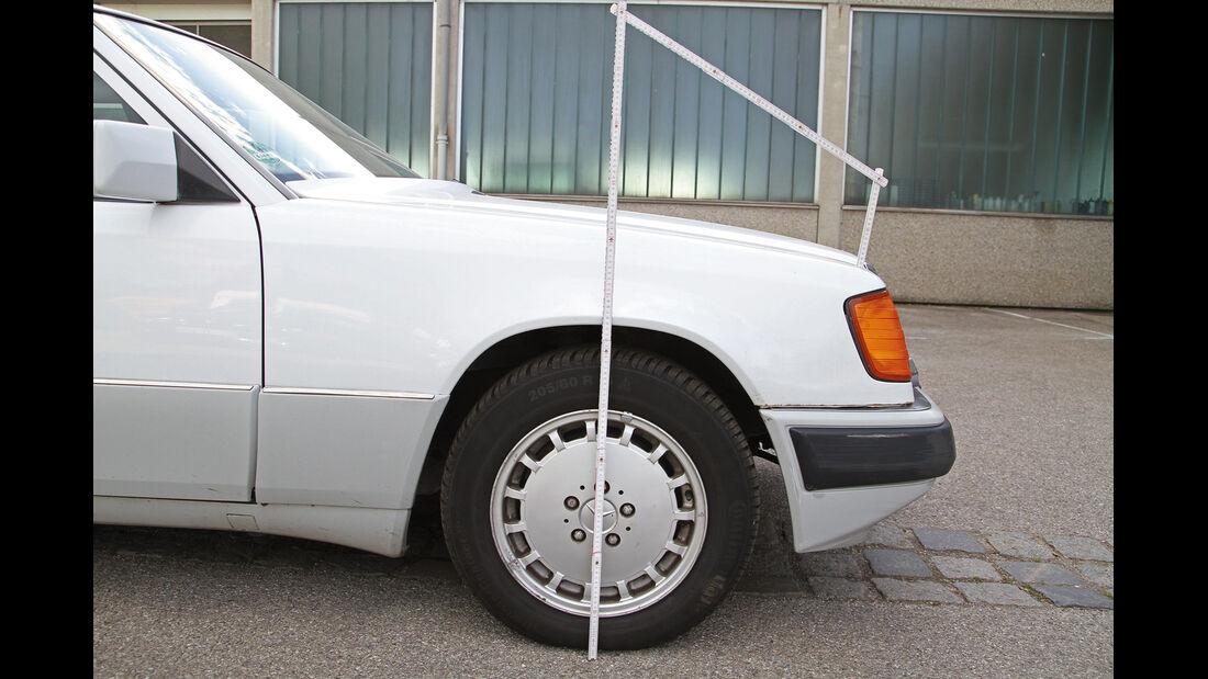 Tieferlegung rückgängig, Mercedes 300 E-24, nachher