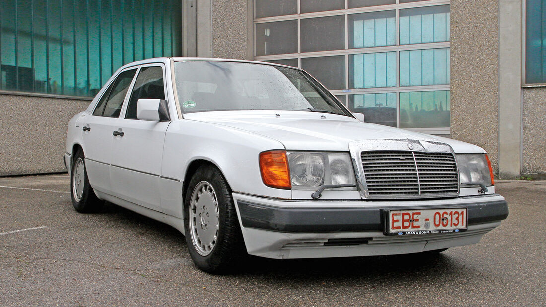 Tieferlegung rückgängig, Mercedes 300 E-24, vorher