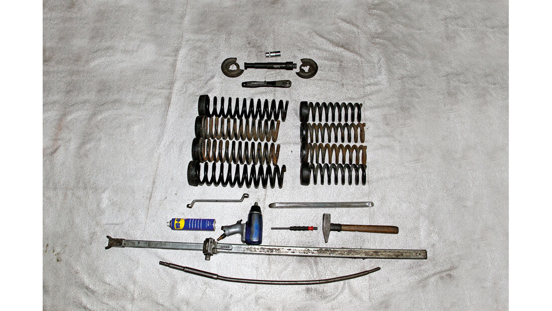 Tieferlegung rückgängig, Werkzeuge