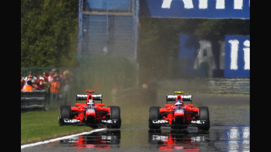 Timo Glock & Charles Pic - GP Belgien 2012