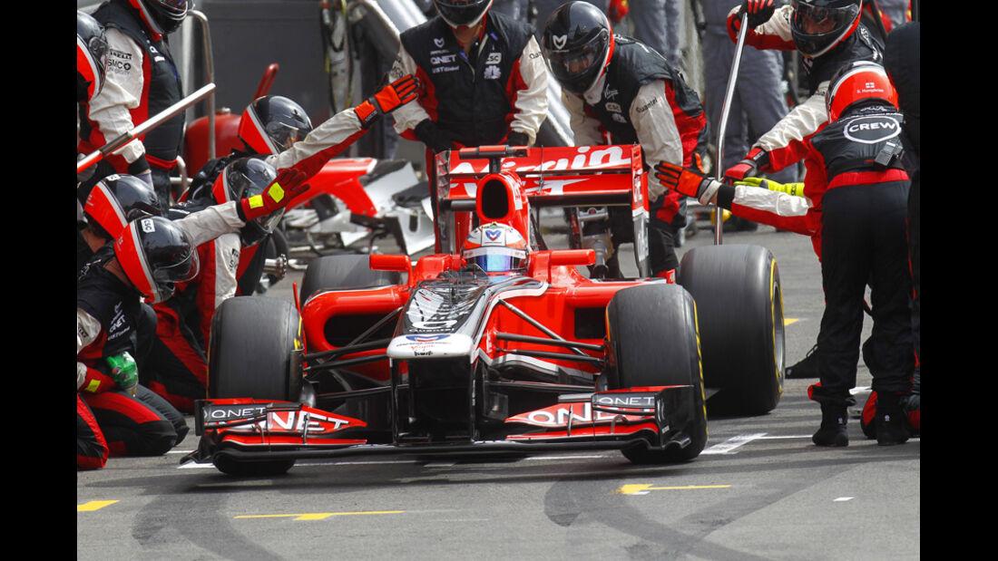 Timo Glock Virgin GP Belgien 2011
