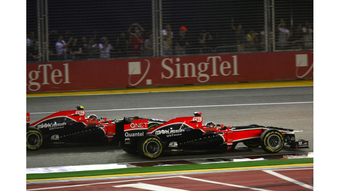 Timo Glock Virgin GP Singapur 2011