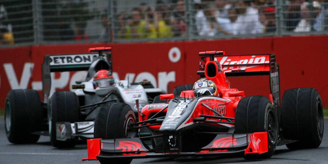 Timo Glock und Michael Schumacher