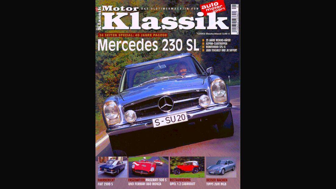 Titel Motor Klassik, Heft 01/2003